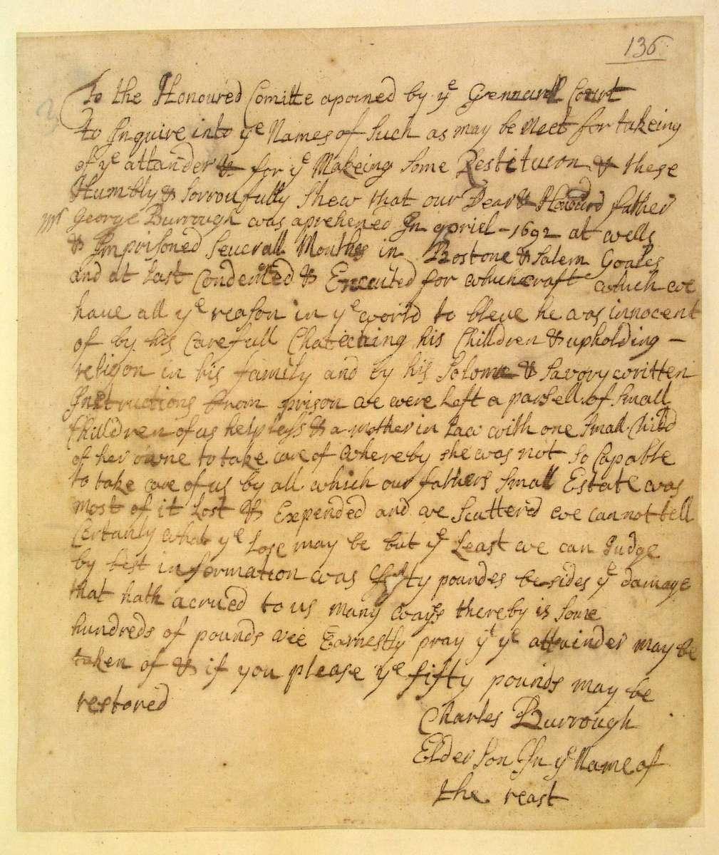 George burroughs essay